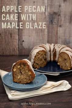 My warmly spiced Apple Pecan Cake with Maple Glaze is the perfect cake to have on hand for an everyday treat. Don't miss this easy recipe! Delicious Cake Recipes, Easy Cake Recipes, Apple Recipes, Yummy Cakes, Dessert Recipes, Muffin Recipes, Fall Recipes, Desserts, Cake Cookies