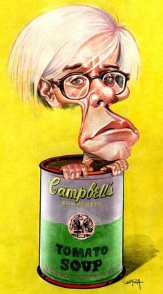 andy warhol caricature - Buscar con Google