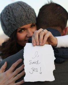 Such a cute engagement shot! :)