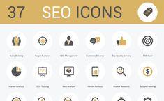 37 Free SEO Icons (AI, EPS, SVG and PNG) – Freebie No. 24