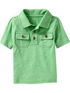 Slub-Knit Jersey Polos for Baby | Old Navy
