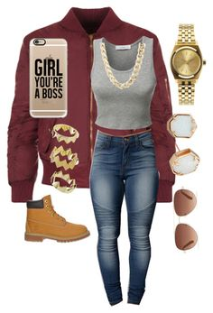 """""""Untitled #180"""" by goddesstillerr on Polyvore featuring WearAll, LE3NO, Timberland, Kendra Scott, Charlotte Russe, Casetify, Nixon, Stella & Dot and Pixie Grey"""