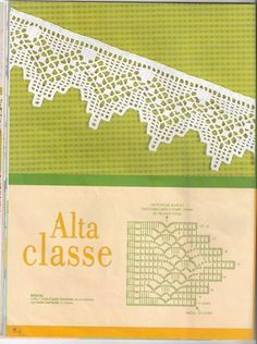 The edging in the photo says it is from a pattern found in the web but does not link to it. Crochet Border Patterns, Crochet Lace Edging, Crochet Motifs, Crochet Chart, Crochet Trim, Crochet Doilies, Easy Crochet, Crochet Stitches, Knit Crochet