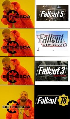 Always Love Fallout Series. And Especially Love Fallout 76 Though It Is Not As Good As Fallout But Still Worth Playing. Yes Man Fallout, Fallout Funny, Fallout 2, Fallout New Vegas, Fallout Facts, Gamer Humor, Gaming Memes, Baguio, Vegas Memes