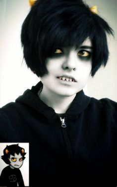 homestuck cosplay Karkat Vantas<< caN WE ALL JusT TAKE A SECoND AND APPRECIATE HOW PERFECT THIS COSPLAY IS OMFG