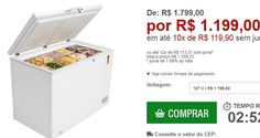 Freezer Horizontal Midea 295L Branco << R$ 119900 em 10 vezes >>