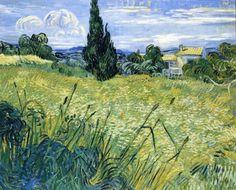 Vincent van Gogh - Wheatfield with Cypress