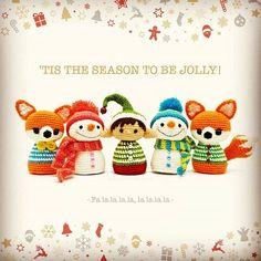 Ten days until Christmas!   #amigurumi #crochet #Christmas #toydesign #elf #snowman #fox #twistedfibers #talesoftwistedfibers