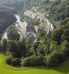 New Lanark World Heritage Site founded in 1786.