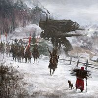 ArtStation - just another day at work... Sunday picnic, Jakub Rozalski
