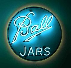 'BALL JARS'                                                                                                                     NEON SIGN                                                                                                                     ๑෴MustBaSign෴๑