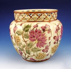 Large Zsolnay Natural Color Cachepot | klugex.com/collectibles