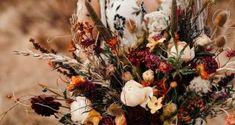 Herbst Boho Bouquet / Herbst Brautstrauß / Herbst Braut / Herbst Hochzeit ... Boho, Plants, House, Ideas, Bridal Bouquet Fall, 秋のウェディング 装飾, Home, Bohemian, Plant