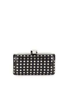 Studded+Rectangle+Evening+Clutch+Bag,+Black/Silver+by+Milly+at+Neiman+Marcus+Last+Call.