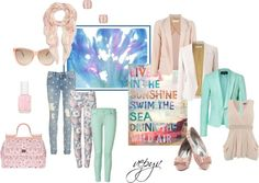 """Colors of the sky"" by azaviki on Polyvore"