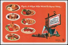 I recently picked up this neat IHOP placemat from my pal Waffle Whiffer. What's not to love about the classic International House of Pancakes styling? Vintage Restaurant, Menu Restaurant, Restaurant Design, International House Of Pancakes, Ihop Pancakes, Vintage Menu, Vintage Ads, Vintage Advertisements, Cowboy Food