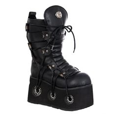 ($145) Demonia Furious 201 Gothic Platform Boots