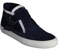 Pierre Hardy Navy Buckle Strap Chukka Sneakers