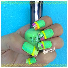 #manicure: #totallytropical! Featuring #profusioncosmetics in #lime ($1!), #palmleaf #naildecal #frenchtips. #Nails #Uñas #Unghie #Ongles #Unhas #Nailpolish #Esmalte #Smalto #Émail. #Beauty #Belleza #Bellezza #Beauté #Beleza #Cosmetics #Cosméticos #Cosmetici #produitsdebeaute #fabat40.