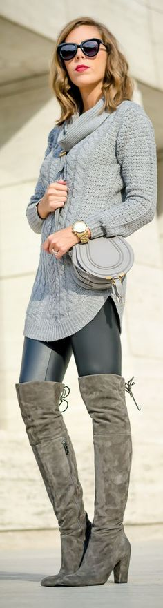 Fall Inspo knit sweater. women fashion outfit clothing stylish apparel @roressclothes closet ideas