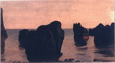 "Frederic Edwin Church, ""Rocks and Moss off Grand Manan Island, Canada"", 1851–52"