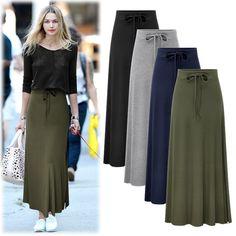 360fdd53e67 Women Skirts Fashion Women High Quality High Waist Long Skirt M-6XL Big Size  Fem
