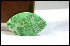 Willow Leaf Shaped Green Variscite Cabochon