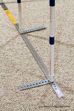 DIY 2x2 Dog Agility Weave Poles