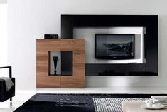 The best catalogue for modern TV cabinet designs and TV wall units design ideas for living room interior walls, with expert tips on how to choose these tv wall cabinets in your modern home of 2019 - 2020 Wall Unit Designs, Tv Unit Design, Tv Wall Design, Tv Wanddekor, Modern Tv Wall Units, Modern Wall, Tv Cabinet Design, Tv Wall Decor, Wall Tv