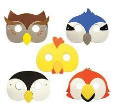 Beak Mask, Bird Masks, Nocturnal Animals, Bird Crafts, Jungle Party, Diy Mask, Drawing For Kids, Puppets, Kids Playing