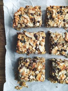 coconut tahini bars // replace honey with maple syrup to make vegan
