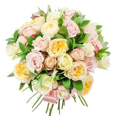 If you are looking for a delicate and beautiful gift our bouquet is the perfect choice for you. The charming combination of white roses, cream garden roses, light pink roses and ruscus will brighten the hole day of your special person. Romantic Flowers, Most Beautiful Flowers, Fall Flowers, Fresh Flowers, White Roses, Pink Roses, Early May Bank Holiday, Send Flowers Online, Light Pink Rose