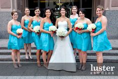 Real Wedding in Blue |