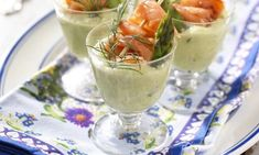 Sparrismousse med lax Mousse, Starters, Guacamole, Cantaloupe, Appetizers, Pudding, Snacks, Fruit, Ethnic Recipes
