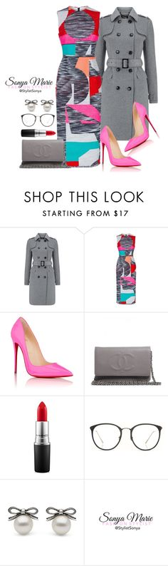 """Untitled #195"" by stylistsonyamarie on Polyvore featuring Roksanda, Christian Louboutin, Chanel, MAC Cosmetics and Linda Farrow"