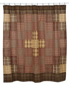 Our Prescott Shower Curtain is a pretty block pattern in coordinating fabrics. We also offer several different curtain options if you have a window in our bathroom. This would make a great quick makeover. https://www.primitivestarquiltshop.com/products/prescott-shower-curtain #primitivebath
