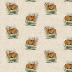 Farm Sheep All Over Linen Style Canvas Fabric Printed Linen, Printed Cotton, Christmas Fabric Crafts, Pattern Weights, Tilly And The Buttons, Sheep Farm, Halloween Fabric, Fabric Gifts, How To Dye Fabric