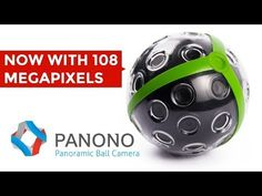 Panono: Panoramic Ball Camera.  Panono: Panoramic Ball Camera Panono is a throwable panoramic ball camera which captures everything in every direction for amazing 108 megapixel, 360° X 360° full-spherical panoramic images.