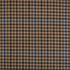 Sand with Brown, Blue and Green Check All Wool Jacketing