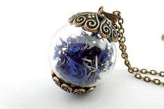 Blue Cornflower Necklace van Charme & Shine op DaWanda.com
