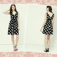 Polka dot dress from loft.PRICE FIRM 5x HP CITY PARTY CHIC BY DEBBIMILLER HP ALSO FOR MINIMALISTIC CHIC   HP GIRLY GIRL BY MARLA_MICHELLE  HP BEST IN DRESSES AND SKIRTS BY MISSTANA  HP CLASSIC CHIC BY KORNBREAD11 This is a little black dress thats sure to impress! Sleeveless,great for summer,shirred beneath waistband,v back,19 1/2 from waist inseam,97%cotton and 3%spandex.NWOT.price is negotiable!!!MATCHING SHOES ARE IN @tams CLOSET  LOFT Dresses