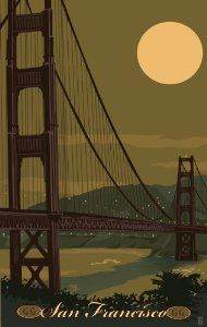 Amazon.com: Northwest Art Mall MR-1479 Golden Gate Bridge San Francisco California 11 by 17-Inch Print by Mike Rangner: Home & Kitchen