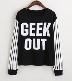Geek out #sweatshirt #sudadera http://www.monamoda.com.mx/products/playera-geek-out