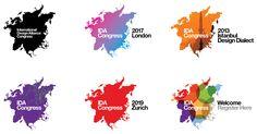 Pentagram (Michael Bierut and Hamish Smyth) – Flexible identity for the Intertional Design Alliance Congress Identity Design, Visual Identity, Corporate Identity, Istanbul, Michael Bierut, Print Design, Logo Design, Elements Of Design, London