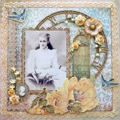 """Queenie"" by Oziem  I love this beautiful layout!"