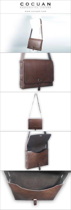 Big messenger bag www. cocuan.com #leather #handmade #handcraftleather #leatherbag #leatherwork #leatherwallet #cocuan #mataro #barcelona