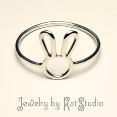 Bunny Ring- Handmade - Sterling Silver 925 - 16 gauge - gift packaging via Etsy