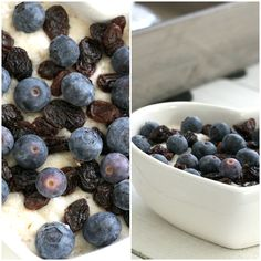 blueberry, raisins. healthy :)