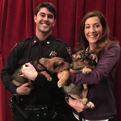 Not a bad way to start the day...puppies from @socialteesnyc & personal puppy security from Officer Mike.  @todayshow
