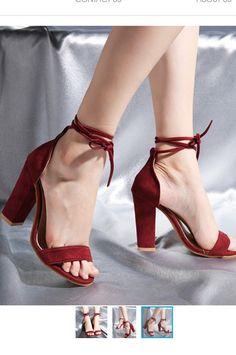 $49.90 - Dark Red Wine Block High Heels with ankle strap. Those heels shoes are for elegant ladies, teens and feminine women. Red Heels, High Heels, Shoes Heels, Pumps, Red Block Heel Sandals, Block Heels, Red High, Elegant Woman, Dark Red